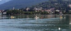 ETC 2016 Rowers training on Lake Varese Gavirate backdrop