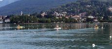 ETC 2016 Rowers training on Lake Varese Gavirate backdrop