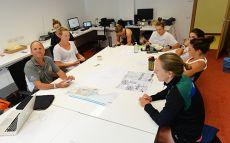 ETC 2016 Rowing Australia meeting in Performance Analysis room