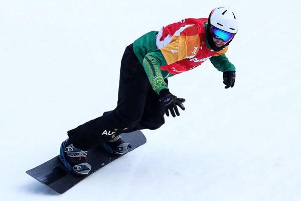 Simon Patmore during the PyeongChang Winter Paralympic final
